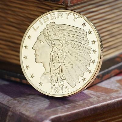 gold plated 1915 GOLD Indian Half Eagle Coin Copy Hot