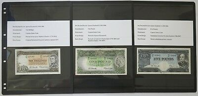 Australian 1954-61 QEII Coombs/Wilson Ten Shillings-Five Pounds Banknotes