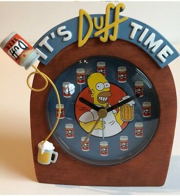 NEW The Simpsons It's Duff Time Wall Alarm Clock with Homer Simpson