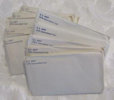 Pickers Delight of 10/Ten 1974 P&D US Mint Sets.    In envelope of Issue.   #MF-