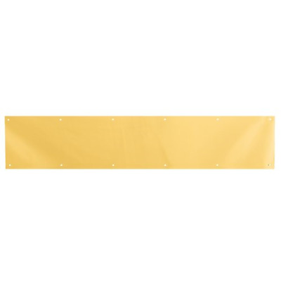 Prime-Line Products J 4703 Door Kick Plate, 6-Inch x 34-Inch, Brite Brass on
