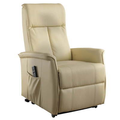 Poltrona Relax Alzapersona Chateau D Ax In Pelle Beige Eur 200 00