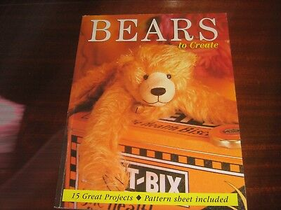 Bears To Create 15 Great Projects- Pattern Sheet Included