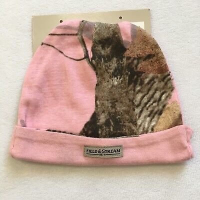 Field & Stream Baby Hat Girl Pink Beanie Camouflage Newborn Hunting Stretchy
