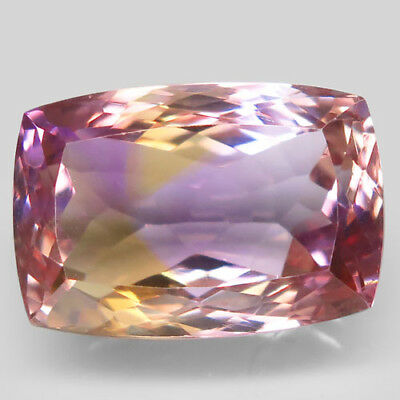 15.66ct.Picturesque! 100%Natural Bi Color Ametrine Unheated Bolivia AAA Rare Nr.