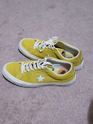 7793a4f8f8b9e1 CONVERSE ONE STAR X GOLF WANG SUEDE Yellow Sulphur Tyler The Creator