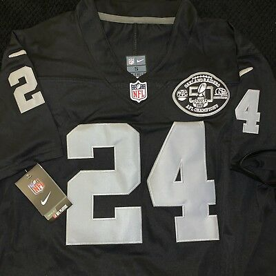 quality design 80be7 356cc MARSHAWN LYNCH #24 Oakland Raiders Jersey Men Size S