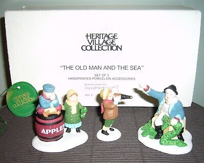 THE OLD MAN AND THE SEA Dept 56 Porcelain Figures, Set of 3, IOB, Shipping Incl.