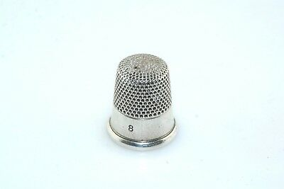 Simpson Sterling Silver no 8 Thimble Vintage