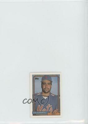 1992 Topps Micro Box Set Base #382 Sid Fernandez New York Mets Baseball Card