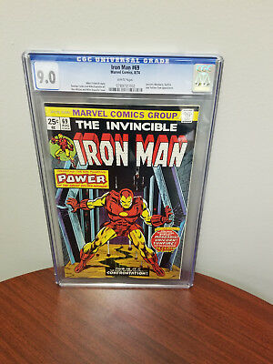 Invincible Iron Man #69 Cgc 9.0 White Pages Marvel Comics 1974