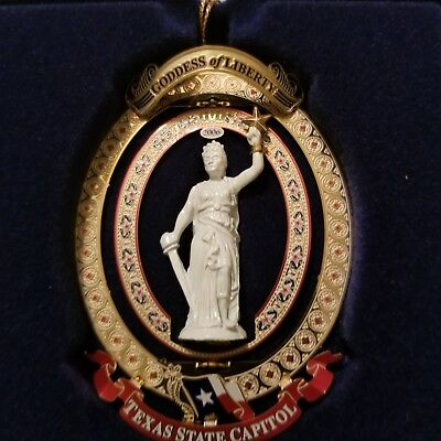Retired 2006 Texas State Capitol Ornament - Goddess of Liberty in Box