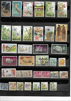 Kenya. 1963-1992.  Selection Of 35. Very  Fine Used.  As Per Scan