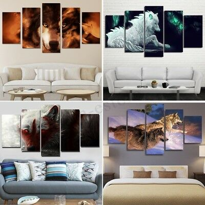 Unframed Wolf Animal Modern Art Canvas Painting Picture Print Home Wall Decor