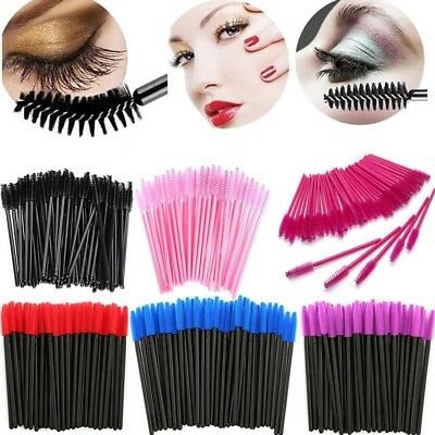 50pcs Disposable Eyelash Wands Mascara Brushes Lash Extension Applicator
