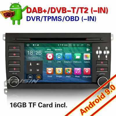 Android 9.0 PORSCHE CAYENNE DAB+ Autoradio Navi WiFi TNT-IN BT 4G CD DVR OBD GPS