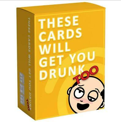 These Cards Will Get You Drunk Too-Fun Adult Drinking Game For Party 2-8 Players