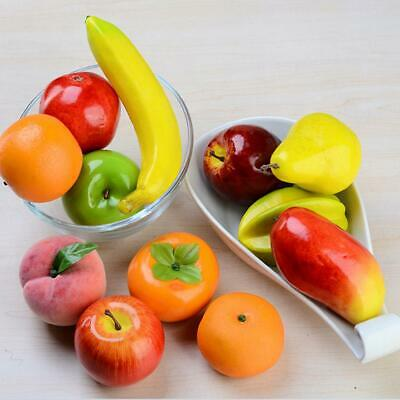 Lifelike Artificial Plastic Fruit Fake Fruits Display Home Kitchen Party Decor