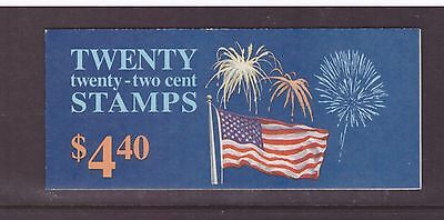 USA 1987 Booklet Flag with Fireworks mint stamps complete
