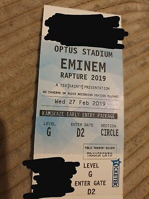 Eminem - ***VIP Tickets x2*** - Perth - Rapture Tour