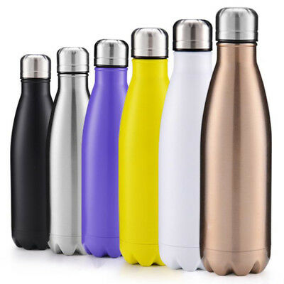 Stainless Steel Kettle Insulated Metal Sports And Fitness Drink Bottle 500MLr