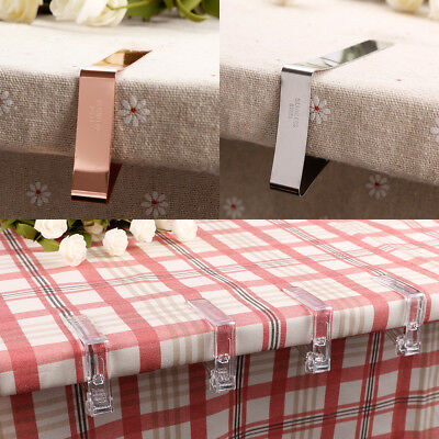 Stainless Steel Table Cloth Cover Clips Quality Metal Pegs Clamps Picnic Prom