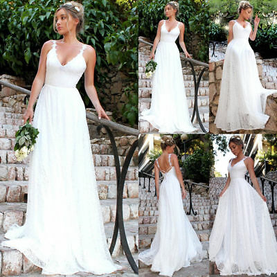 Womens Long Evening Formal Party Dress Ladies Strappy Wedding Bridesmaid Gown AU