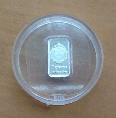 5g Gram Silver Scottsdale Bar .999 Factory Sealed Protected In Capsule Superb