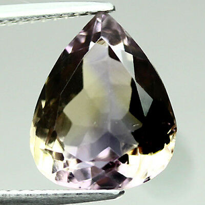 6.18 Ct Vvs! Natural! Purple & Yellow Bolivia Ametrine Pear