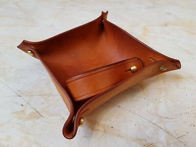 Hand Made Leather Tobacco Pipe Tray And Pipe Rest