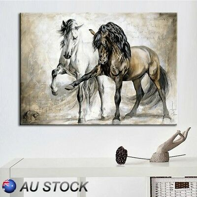 Horse Abstract Canvas Wall Art Painting Pictures Home Hanging Picture Decor AU
