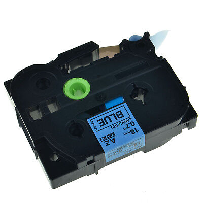 """1PK TZe541 TZ 541 Black on Blue Label Tape 18mm 3/4"""" For Brother P-touch ST-1150"""