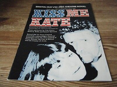 1981  Theatre  Programme -  Kiss Me Kate  With   Isla Blair -  Bristol Old Vic