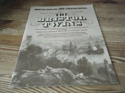 1981   Theatre  Programme -  The  Bristol  Twins  -  Bristol Old  Vic  - Royal