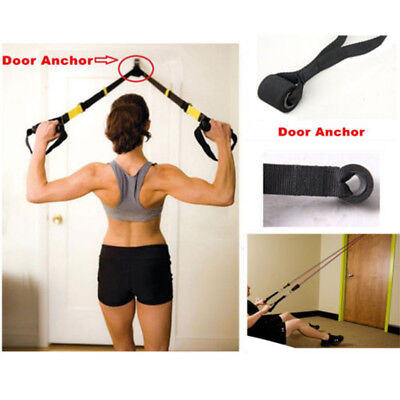 Training Exercise Resistance Bands Home Fitness  Elastic Band Over Door Anchor