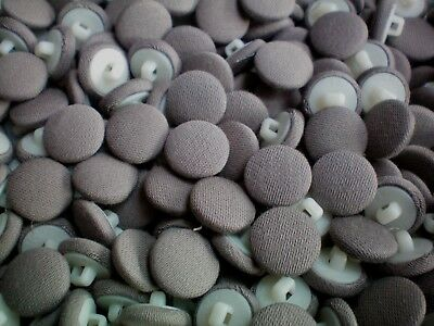 Small 14mm 22L Light Brown Taupe Grey Fabric Covered Shank Plastic Buttons J140