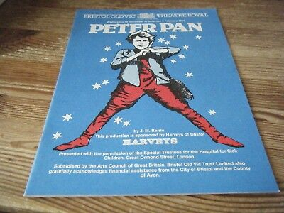 1985   Theatre  Programme    - Peter Pan -   Bristol Old Vic - Theatre Royal Vgc