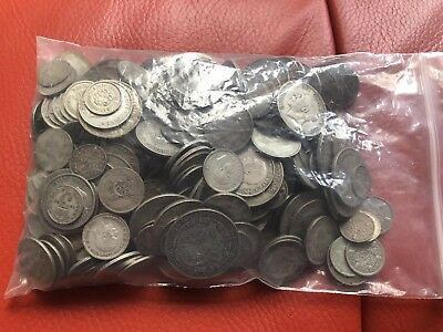 GB Lots Of Silver Coins All Pre 1946 Scrap Or Collect 1875 Grams!!!!