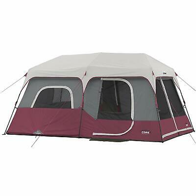 CORE Instant Cabin 14 x 9 Foot 9 Person Cabin Tent w/ 60 Sec Assembly, Burgundy