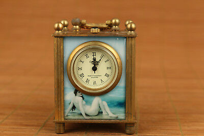 Valuable old Copper Machinery Royal Clock pocket collectable Watch home ornament