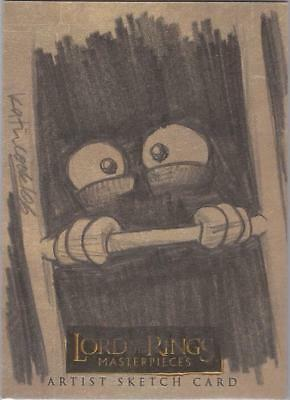 "Lord of the Rings Masterpieces - Katie Cook ""Gollum"" Sketch Card"