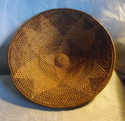 Vintage African Hand Woven Spiral Bowl