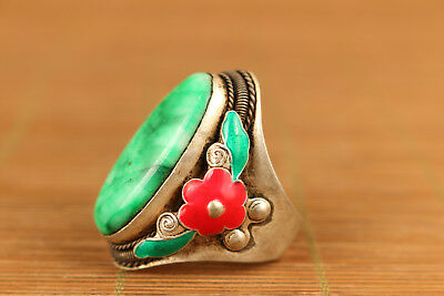 100% Snuff Bottles Old unique natural jade stone ring home decoration