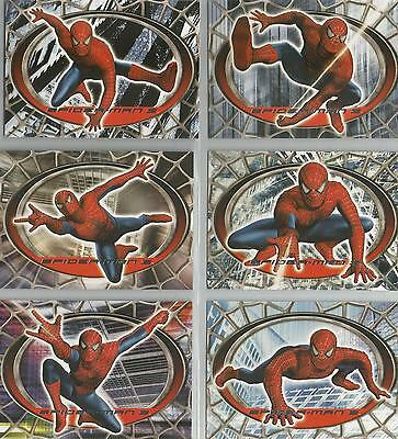 """Spider-man 3 - """"Spider-Man Red / Blue"""" Set of 6 Chase Cards #R1-6"""
