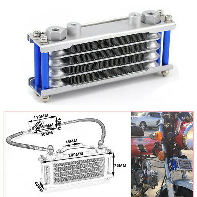 Motorcycle Oil Cooler Radiator For 50 70 90 110CC Dirt Pit Bike Racing Durable