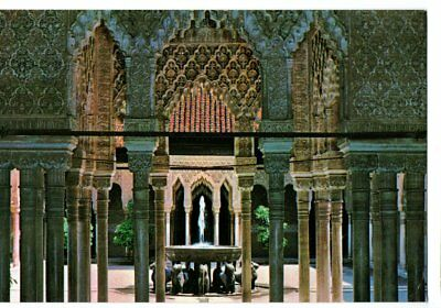 GRANADA, SPAIN; ALHAMBRA vintage postcard - used fine postmark and stamps *e
