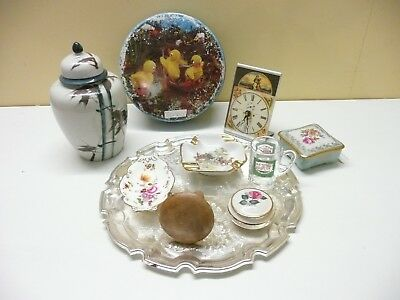 Joblot of vintage, resale, boot sale etc China, Silver Tray , Mushroom , Tin etc