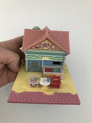 Polly Pocket Beach Cafe 1993 Bluebird Case Compact Vintage Toy Collectable