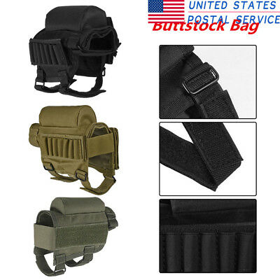 Universal Stock Rest Mag Ammo Pouch Holder Pack Bag Pocket Nylon For Airsoft