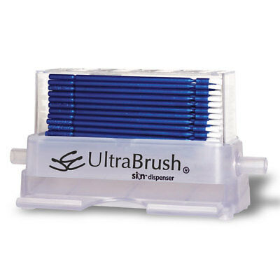 Microbrush U1D Ultrabrush 1.0 Bristle Brush Applicators Dispenser Kit 100/Bx